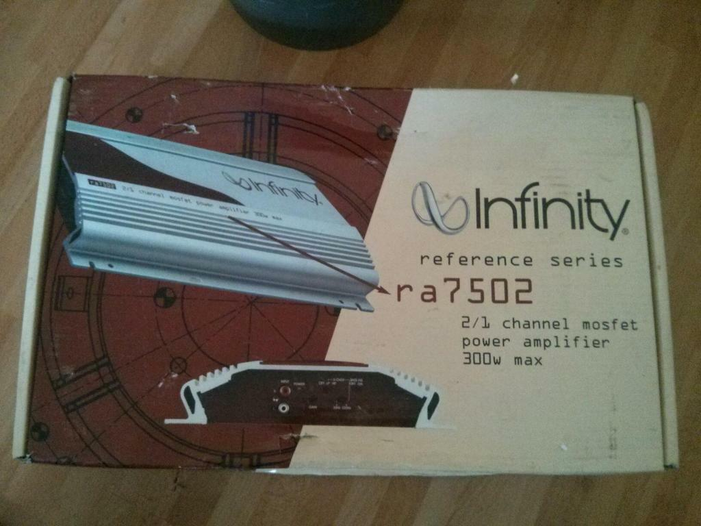 infinity reference series amp. infinity reference series ra7502 2/1 channel car amplifier amp