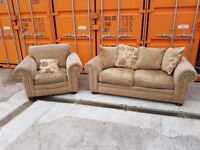 2 seater sofa bed and chair