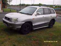 Santa Fe 4x4 Diesel..2003..Silver..Full Mot