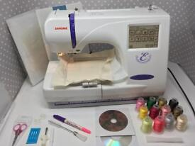 Janome 300e Embroidery only Sewing Machine new accessories & software