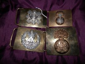 4 Military belt buckles
