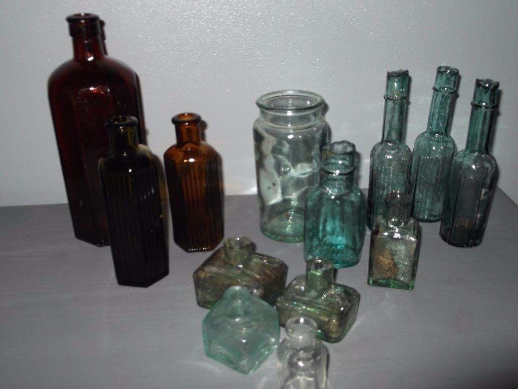 Vintage/Antique bottles and Inkwells
