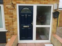 Composite front door and frame...All of it for an extra 50