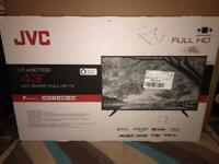 JVC 43 inch smart tv brand new