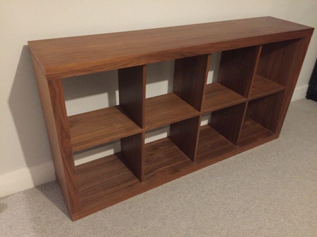 Designer ilva walnut veneer bookcase book shelves room divider