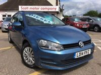 VOLKSWAGEN GOLF 1.6 TDI BlueMotion Tech S Estate 5dr (blue) 2014