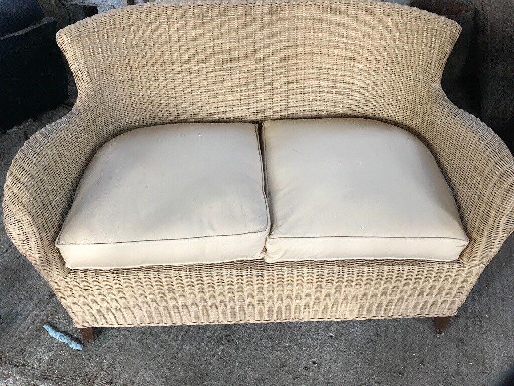 Rattan sofa and table