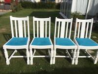 4 Quality Solid Oak dining chairs in fantastic condition