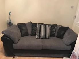 Black and gray 2&3 sofa