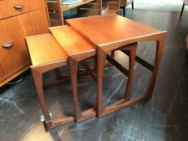 Teak Nest of Tables from 'Quadrille' Range by G-Plan. Retro Vintage Mid Century