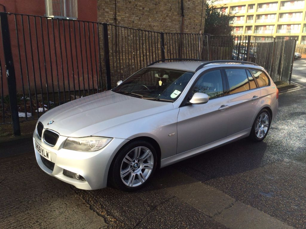 2009 59 bmw 318d m sport touring e91 lci silver damaged salvage repairable in leyton london. Black Bedroom Furniture Sets. Home Design Ideas