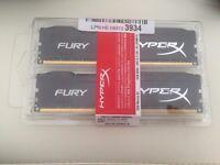 HyperX FURY 16 GB (2 x 8 GB) DDR3 1866 MHz CL10 DIMM Memory Module Kit