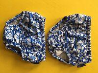 4 reusable JojoMamanBebe swim nappies, age 6-12 months