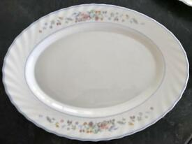 Early Arcopal France - Victoria design - vintage oval dining plates / platters