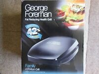 George Foreman Fat Reducing Health Grill , Family 4 Portion Grill. BRAND NEW.