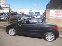 Peugeot 207 cc HDI,1560 cc Hard top convertible,1 previous owner,full leather interior,