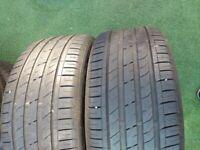 Pair Nexen 255 45 ZR18 Tyres 7mm Tread in West London Area