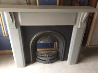 Cast iron fireplace with farrow and ball painted surround