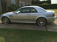 2003 BMW M3 Convertible SMG (silver, E46, hardtop, low miles)