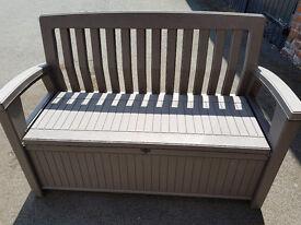 New Keter Garden Storage Bench - Unused but slight 2nds - RRP £100
