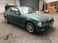 """Genuine BMW E36 328i Sport BBS RC041 RC042 17"""" Staggered Alloy Wheels & Tyres 7.5J 8.5J with caps"""
