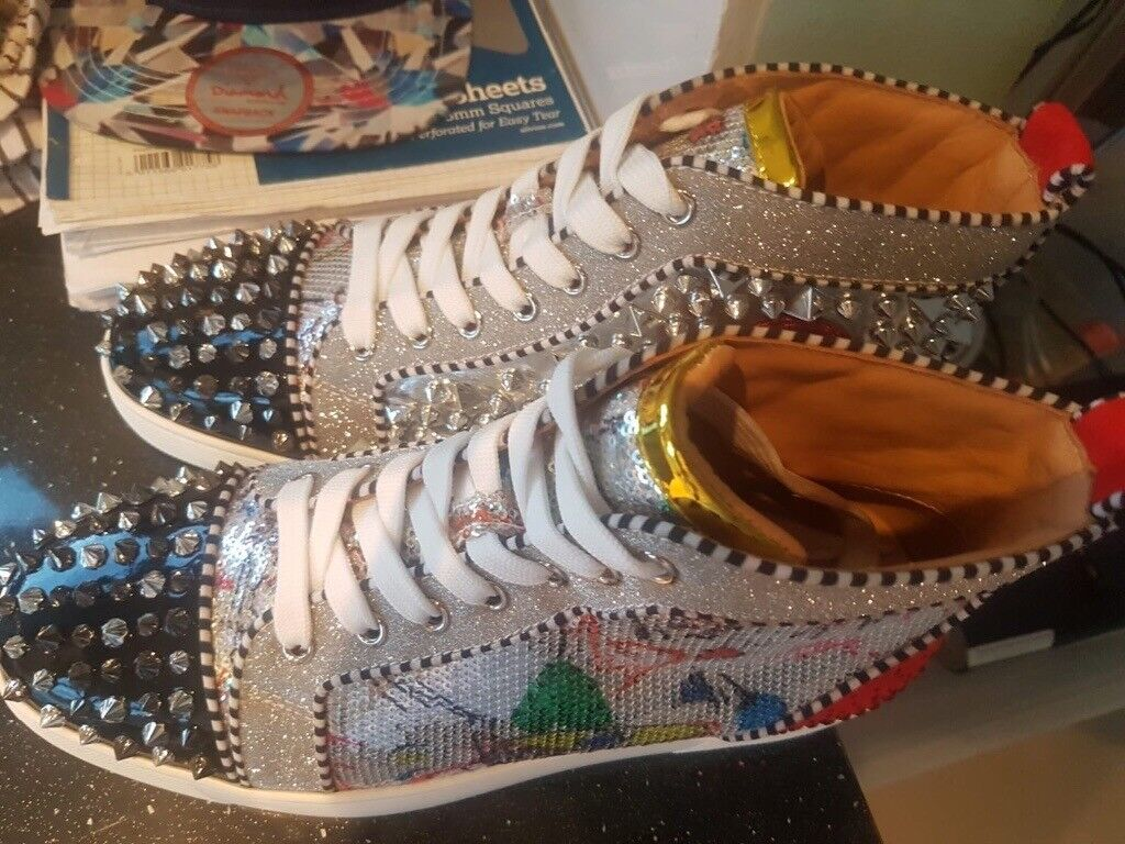 dc602391b01 Christian Louboutin White Trainers Sneakers Spike - Brand New Genuine - UK  Size 9 | in Leyton, London | Gumtree