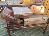 Vintage Leather Luggage