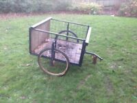 custom home made bicycle cargo trailer for shopping or going out for vw shows
