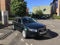 Audi A4, dark green leather seats