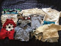 Good quality, baby boy clothes bundle, age 0 to 3 months, 30 items