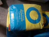 Bags of mastercrete cement