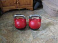 2 x 32kg Competition Kettlebells adjustables