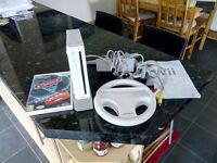 Wii console and game
