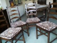 Old Colonial dining chairs