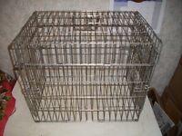 Small Metal Pet Carrier H 40 x46 x 30cm