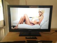 "Samsung 40"" Full 1080p HD TV with Freeview 4 HDMI and USB all fully working with stand and remote"