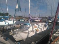 Sailboat Colvic Springtide 24 Ft - Beta 13.5 Hp Engine (120 hours only) - 4 Berth - Lots of extras!