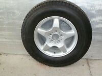 Alloy wheel & tyre for Mercedes ML320.