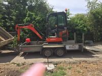 Mini digger with trailer 2015 1.5 ton excellent condition