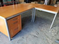Ikea Curved Desk 3 Parts With Drawers