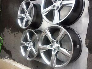 BRAND NEW TAKE OFF CHEVY CAMARO FACTORY OEM 20 INCH ALLOY WHEEL SET OF FOUR.