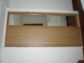 Sliding Wardrobe Doors One Oak and One Mirror