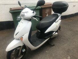 White Honda Lead Good 2011 condition low milage with lock and cover