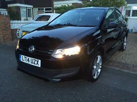 2014 VOLKSWAGEN POLO BLACK 16,000 MILES CAT D EXCELLENT CONDITION INSIDE AND OUT