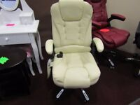 white designer massage chair