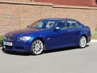 Bmw 330d M Sport E90 Saloon (2006/06 Reg) + 1 OWNER + FSH + LEATHER + GENUINE M SPORT + LE MANS BLUE