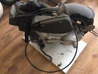 Vespa et4 engine panels front shock with break Lights and seat
