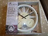 Adorn Outdoor Clock and weather station
