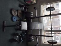 Weider Bench and Weights