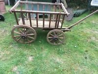 ORIGINAL 4 WHEEL CART FROM EASTERN EUROPE